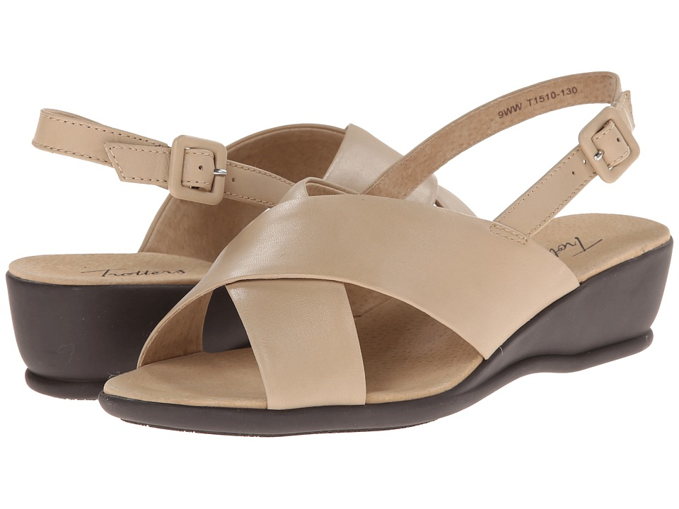 Trotters - Lee (Nude Soft Kid Leather) Women's Wedge Shoes