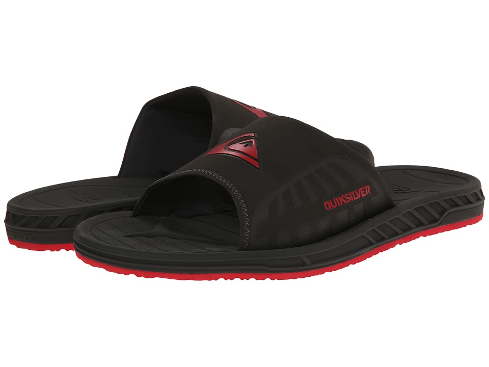 Quiksilver - Triton Slide (Grey/Grey/Red) Men's Sandals