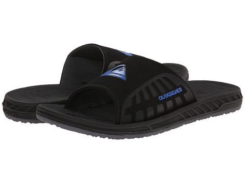 Quiksilver - Triton Slide (Black/Black/Blue) Men