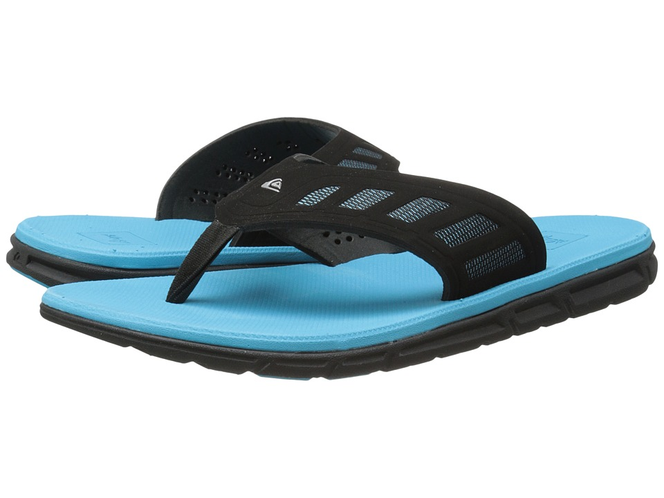 Quiksilver - AG47 Flux (Black/Blue/Black) Men's Sandals