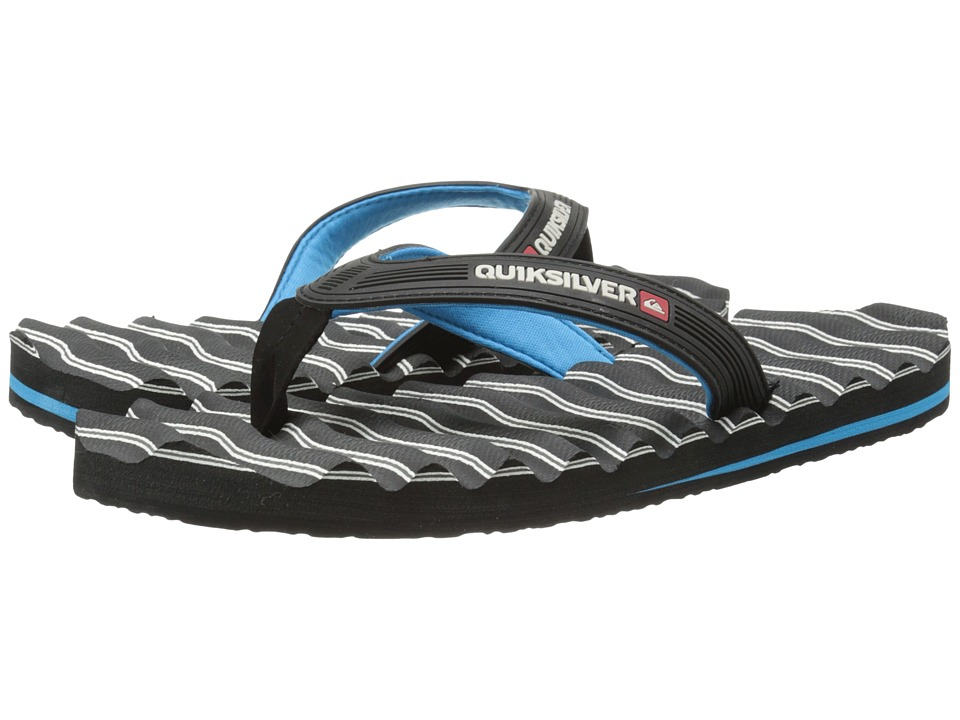 Quiksilver - Massage (Black/Blue/Grey) Men's Sandals