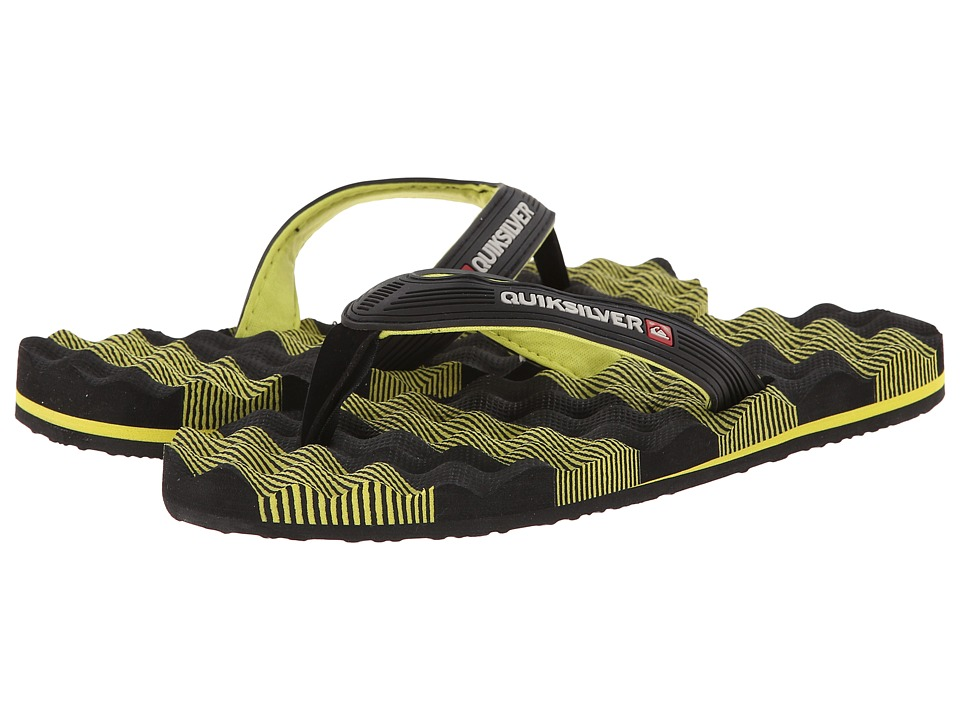 Quiksilver - Massage (Black/Green/Black) Men