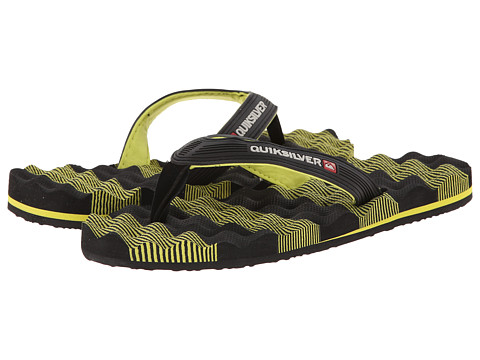 Quiksilver - Massage (Black/Green/Black) Men's Sandals