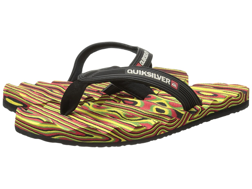 Quiksilver - Massage (Red/Yellow/Green) Men's Sandals