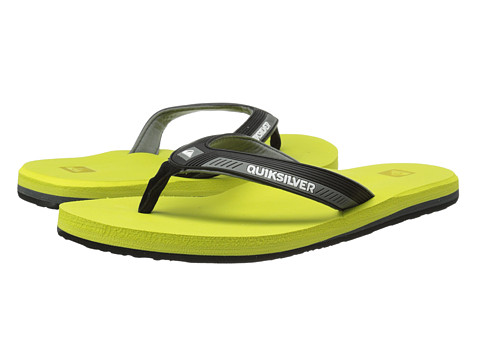 Quiksilver - Meditation (Grey/Grey/Green) Men's Sandals