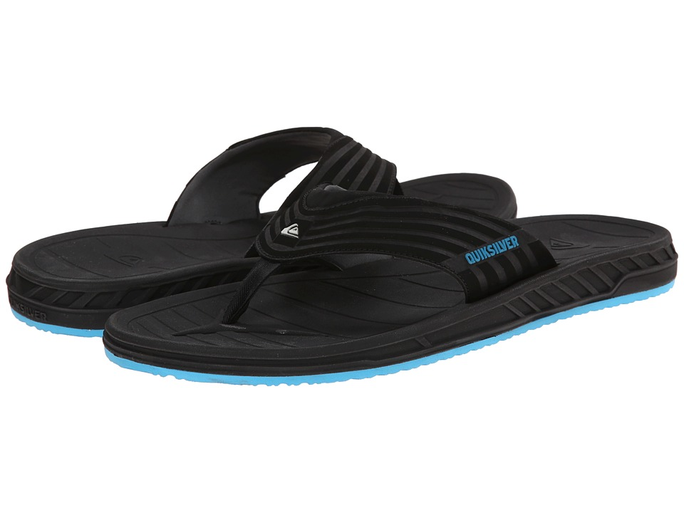 Quiksilver - Triton (Black/Black/Blue) Men's Sandals