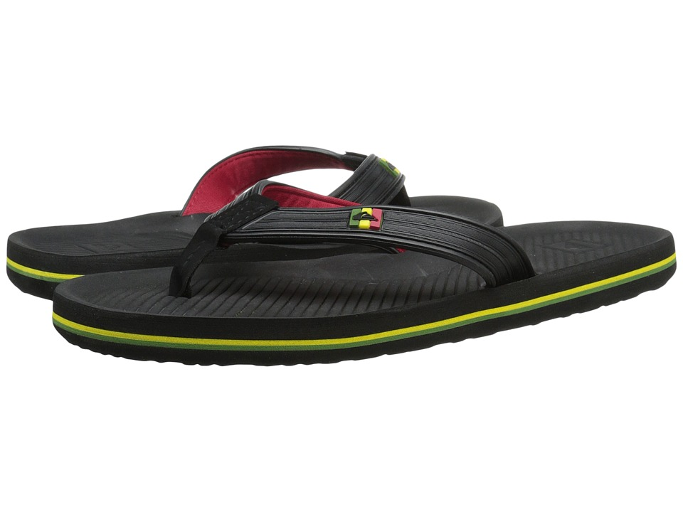Quiksilver - Haleiwa Deluxe (Black/Red/Green) Men's Sandals
