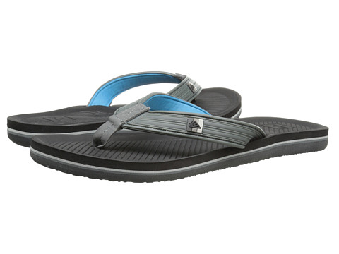 Quiksilver - Haleiwa Deluxe (Grey/Black/Black) Men's Sandals
