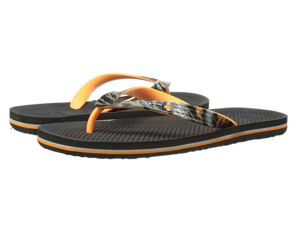 Quiksilver - Haleiwa Print (Grey/Grey/Orange) Men's Sandals