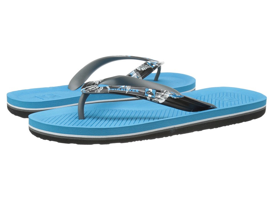 Quiksilver - Haleiwa Print (Black/Grey/Blue) Men's Sandals