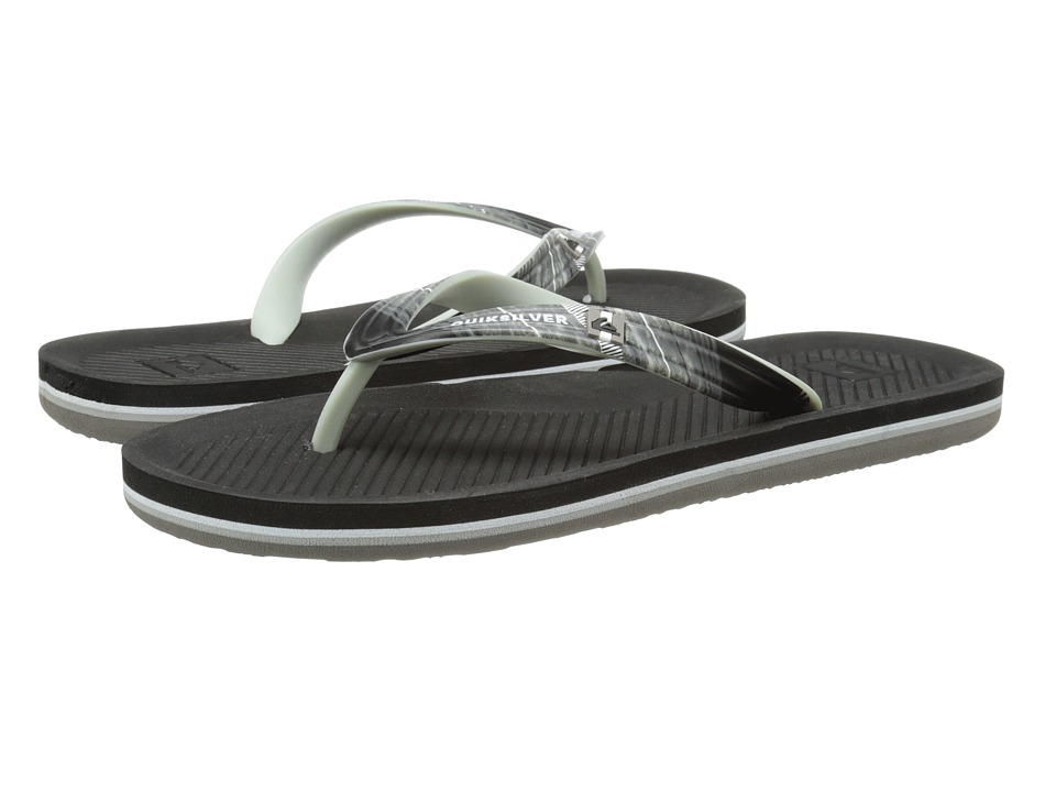 Quiksilver - Haleiwa Print (Black/Grey/Grey) Men's Sandals