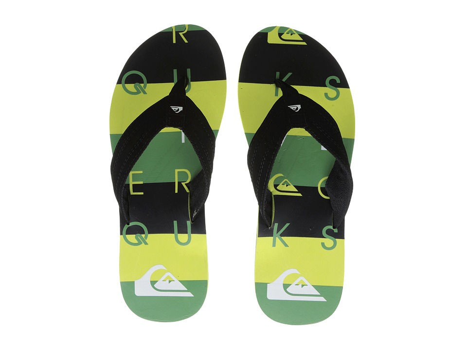 Quiksilver - Basis (Black/Green/Green) Men's Sandals