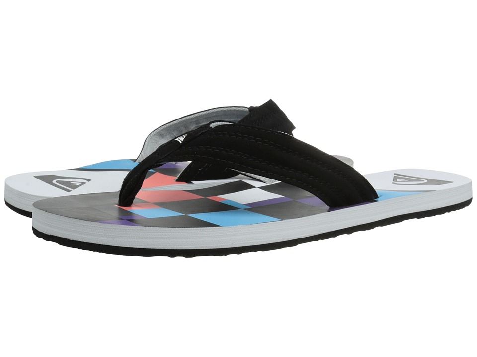 Quiksilver - Basis (White/Red/Blue) Men's Sandals