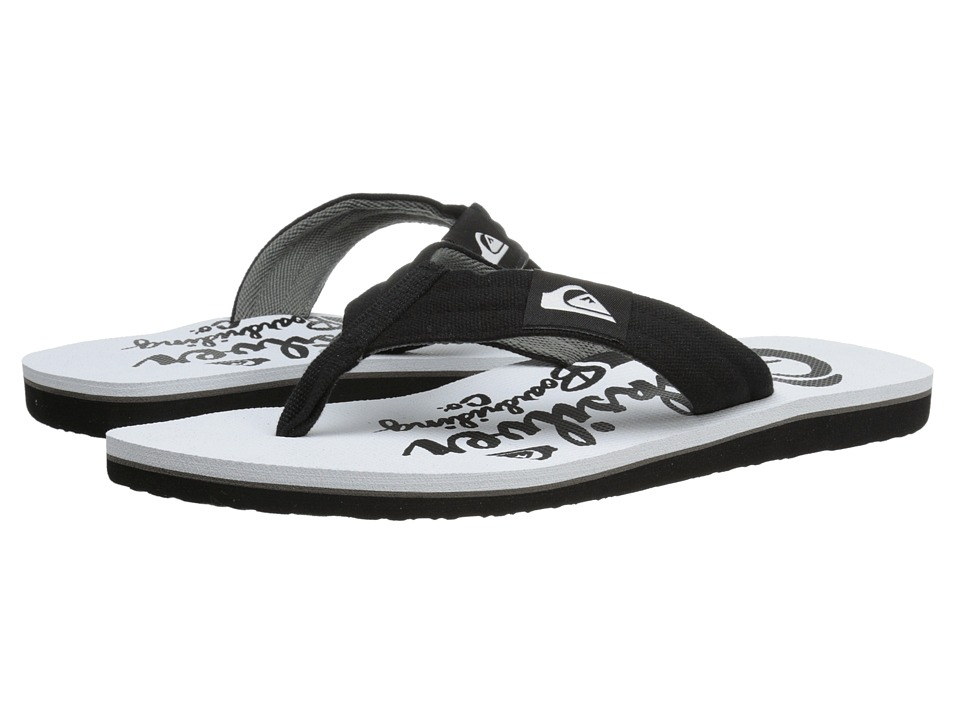 Quiksilver - Molokai Layback (Black/White/White) Men's Sandals