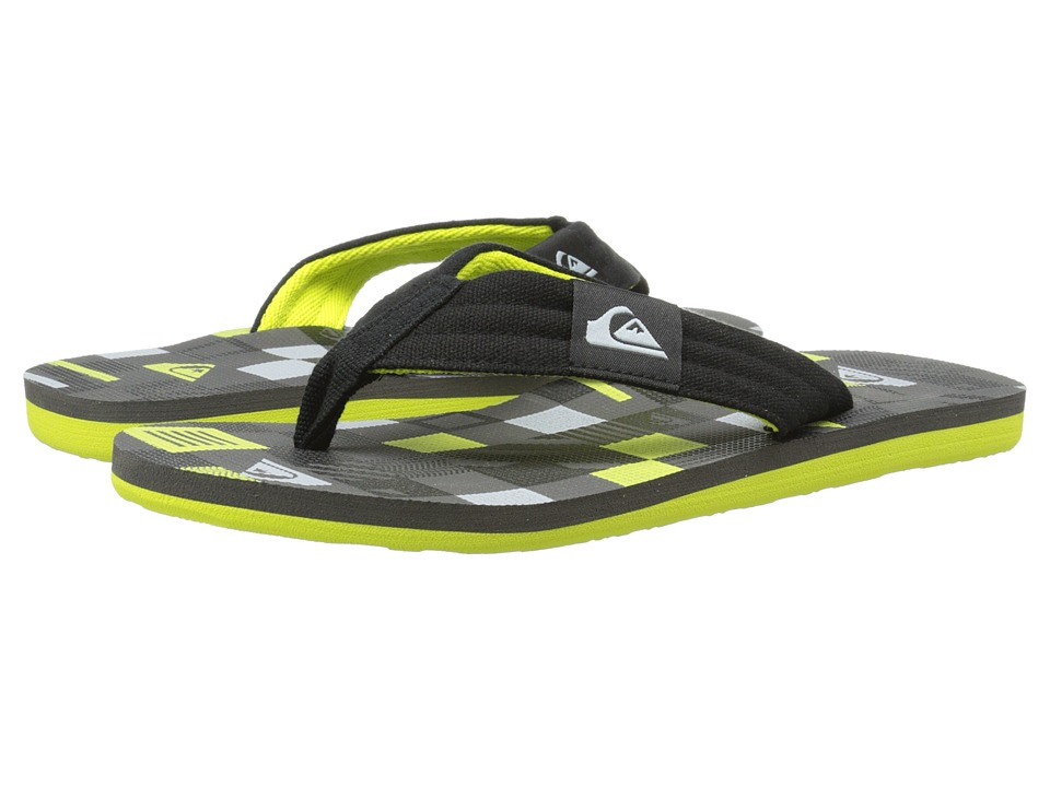 Quiksilver - Molokai Layback (Black/Green/Grey) Men's Sandals