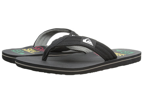 Quiksilver - Molokai Layback (Black/Red/Yellow) Men's Sandals