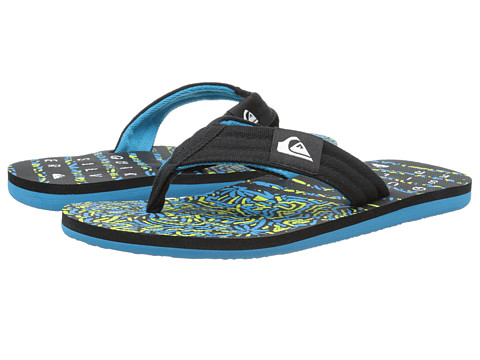 Quiksilver - Molokai Layback (Black/Blue/Green) Men's Sandals