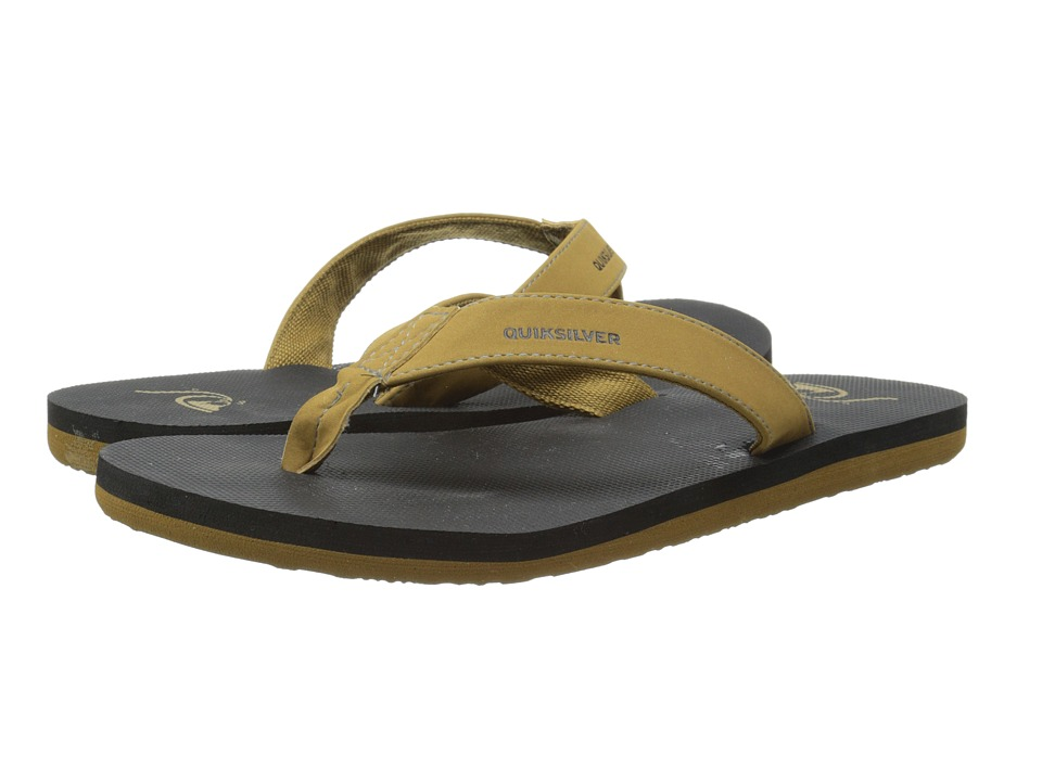 Quiksilver - Molokai Deluxe (Tan - Solid) Men's Sandals
