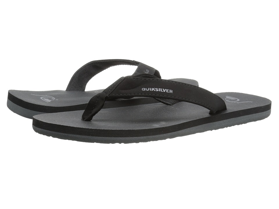 Quiksilver - Molokai Deluxe (Solid Black) Men's Sandals
