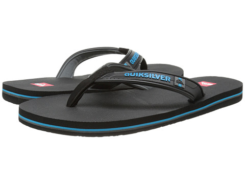 Quiksilver - Molokai Wide (Black/Blue/Black) Men's Sandals