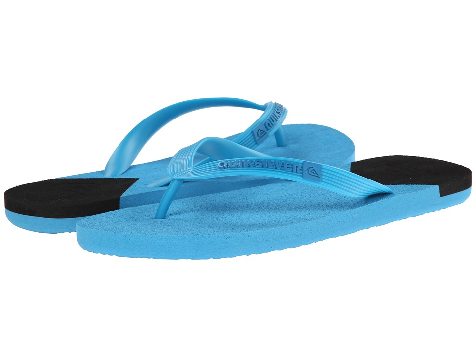 Quiksilver - Molokai New Wave (Blue/Black/Blue) Men's Sandals