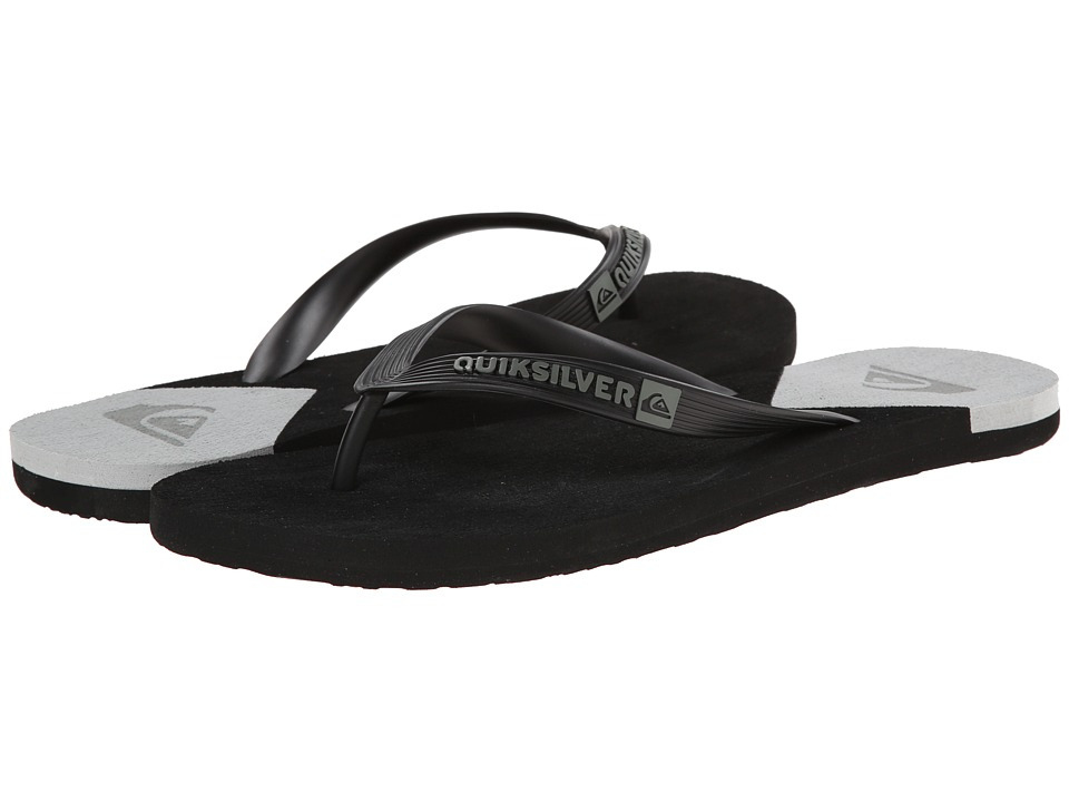Quiksilver - Molokai New Wave (Black/White/Black) Men's Sandals