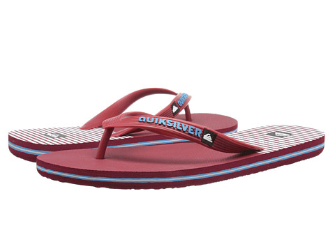 Quiksilver - Molokai East Side (Red/Red/White) Men's Sandals