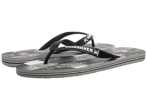 Quiksilver - Molokai Checkmate (Black/Grey/White) Men's Sandals