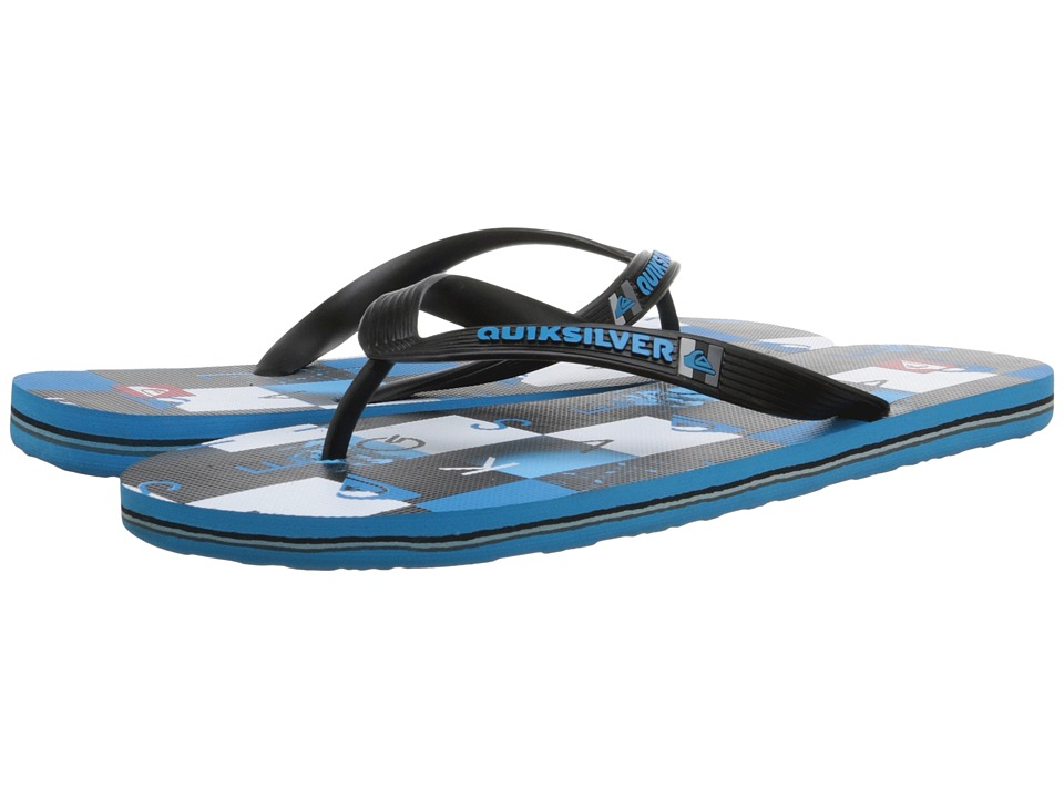 Quiksilver - Molokai Checkmate (Black/Blue/White) Men's Sandals