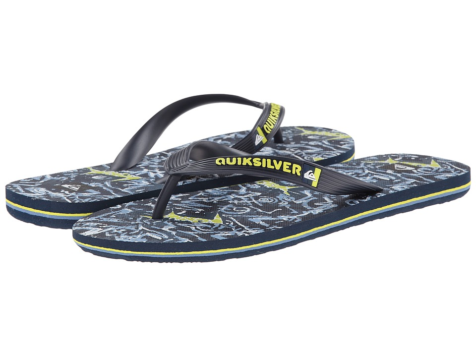 Quiksilver - Molokai Ghetto (Blue/Blue/Green) Men's Sandals