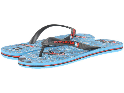 Quiksilver - Molokai Ghetto (Grey/Blue/Grey) Men's Sandals
