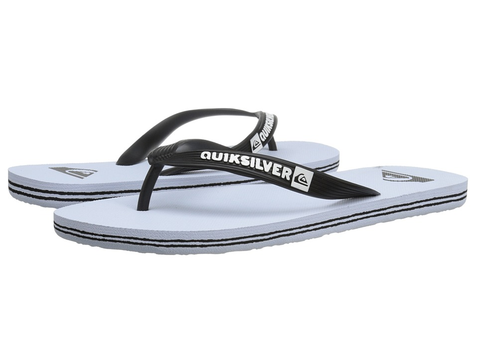 Quiksilver - Molokai (Black/White/White) Men's Sandals