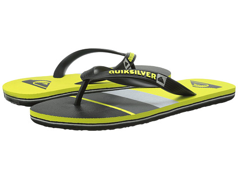 Quiksilver - Molokai Sunset (Black/Green/Black) Men's Sandals