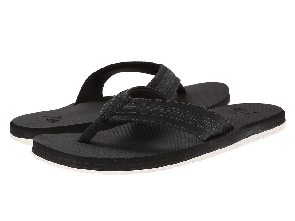 Quiksilver - Coastal Oasis (Black/Black/White Multi Snake) Men's Sandals