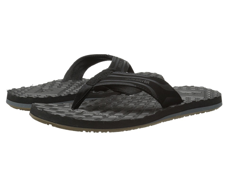 Quiksilver - Monkey Texture (Black/Black/Brown) Men's Sandals