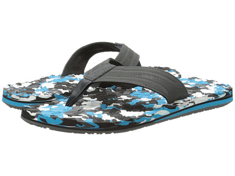 Quiksilver - Monkey Texture (Grey/Blue/Black) Men's Sandals