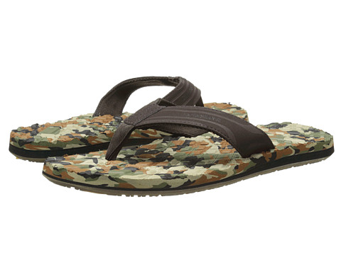 Quiksilver - Monkey Texture (Brown/Green/Black) Men's Sandals