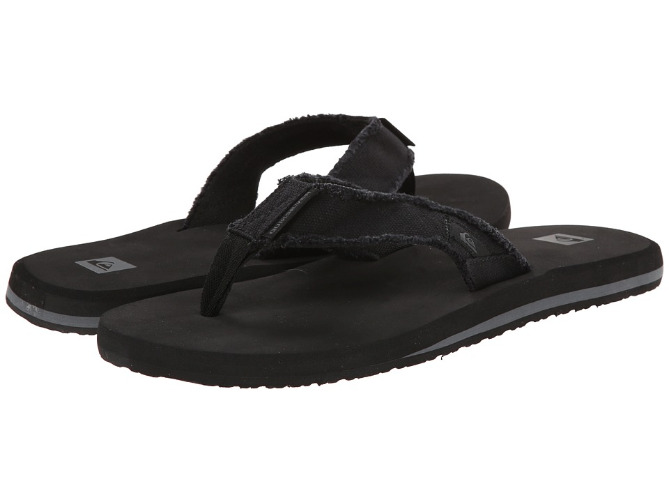 Quiksilver - Monkey Abyss (Black/Black/Brown) Men's Sandals