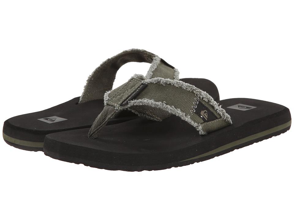 Quiksilver - Monkey Abyss (Green/Black/Brown) Men's Sandals