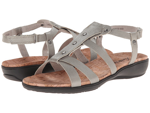 Trotters - Galen (Pewter Metallic Soft Tumbled Leather) Women