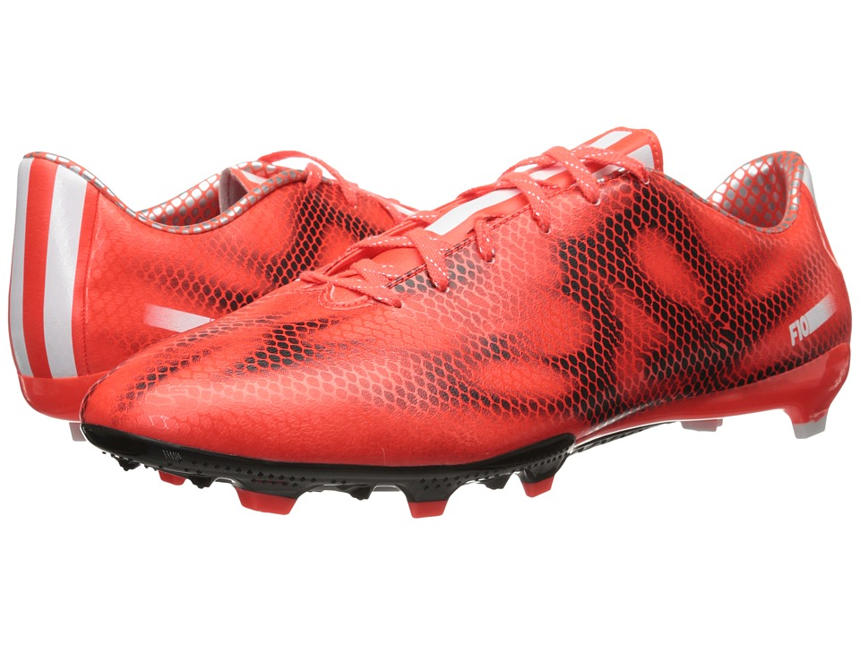 adidas - F10 FG (Solar Red/Core White/Black) Men's Soccer Shoes