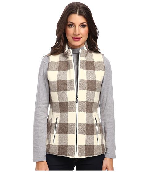 Pendleton - Double Time Vest (Ivory/Soft Brown Mix Buffalo Check) Women