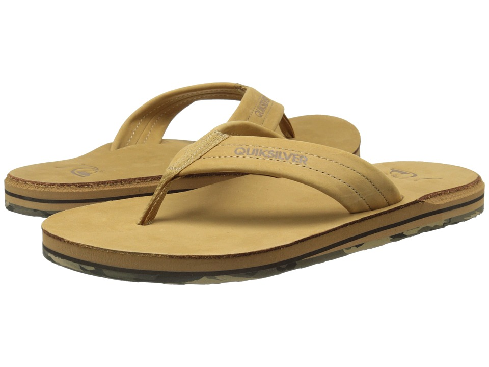 Quiksilver - Carver FG (Tan - Pattern 1) Men's Sandals