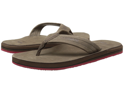 Quiksilver - Carver FG (Brown/Brown/Red) Men's Sandals