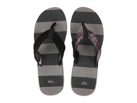 Quiksilver - Carver Switch (Black/Black/Grey) Men's Sandals