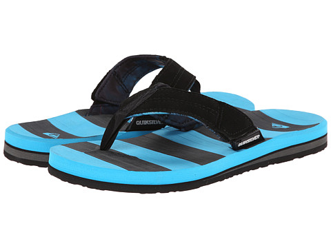 Quiksilver - Carver Switch (Black/Black/Blue) Men's Sandals