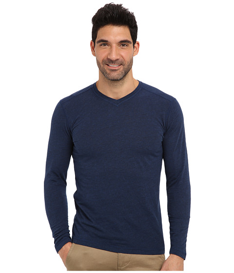 Agave Denim - Medford L/S V-Neck (Sodalite Blue) Men's T Shirt