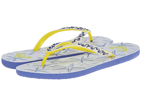 Roxy - Sandee II (White/Blue) Women's Sandals