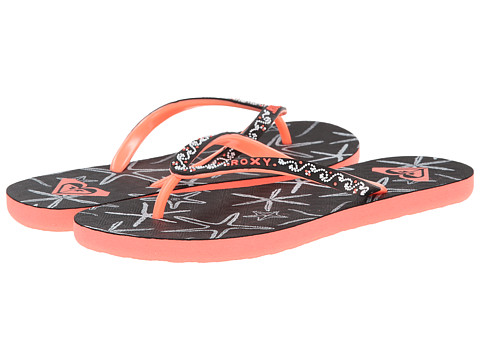 Roxy - Sandee II (Black Geo) Women's Sandals