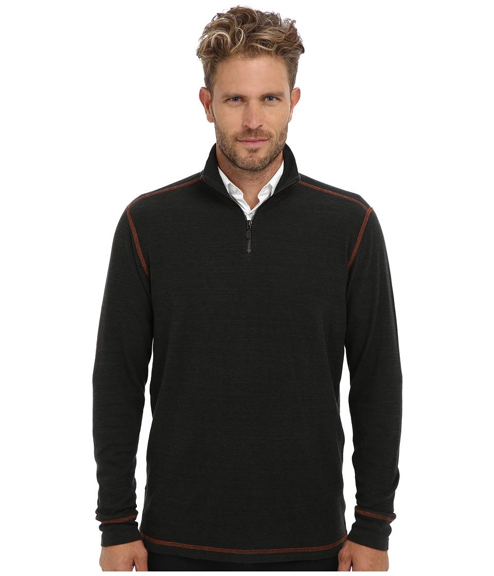 Agave Denim - Watsonville L/S Zip Mock Pullover (Peat) Men